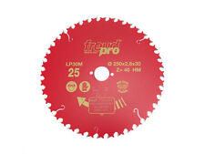 Freud Circular Sawblade 250mm x 40T Teeth x 30mm Bore General Purpose LP30M 025