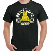 Gym T-Shirt Brick House Mens MMA Funny Weightlifting Training Top Bodybuilding