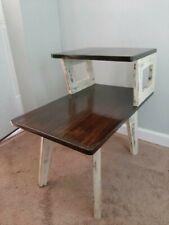 Mid-century Modern Distressed Farmhouse Vintage end table.