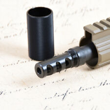 .223 Muzzle Brake 1/2x28 Threads with Outer Sleeve and Jam Nut