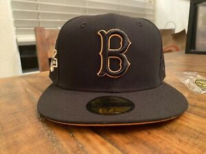 Hat Club Boston Red Sox 1961 All Star Game New Era Fitted Hat 7 3/4 Black Gold