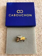 Cabouchon - Wheelbarrow Brooch (Gold & Crystal Style)
