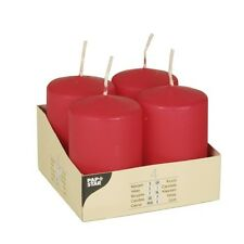 24 rote Stumpenkerzen Ø 50 mm 80 mm Stumpe Kerzen