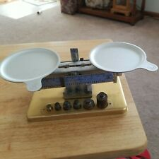 Vintage Pelouze Mfg. Co. Scientific Lab Scale With Weights And Trays