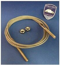 Jaguar XJS Cabriolet (Convertible) Top Hold Down Cable Rear Top Attachment Cable