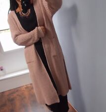 Strick Mantel Cardigan S M Warm Jacke Blogger Musthave Warm Knit chic 38 Rosa 36