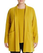 New listing Nwt Eileen Fisher Plus Mustard Seed Boiled Wool Shawl Collar Jacket Size 2X