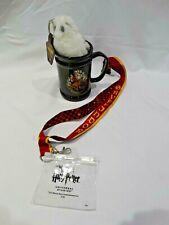 Wizarding World of Harry Potter Hogwarts Mug Hedwig Keychain & Lanyard