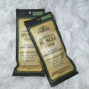Village Naturals Therapy Muscle Mineral Bath Soak 2 Pack Travel Size
