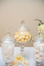 Round Top Glass Apothecary Pedestal Based Jar