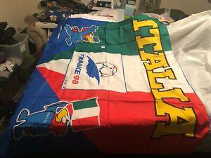 1998 Italy France 98 Soccer Flag
