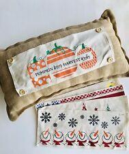 Burlap 12x22 Lumbar Decorative Rustic Pillow Interchangeable Holidays/Seasons