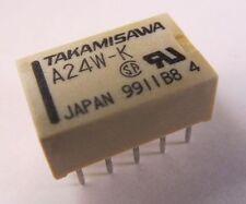 5 pièces-a-24w-k - 2xum - 2a - 24v/takamisawa Klein signal-relais a24w-k