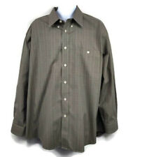 Orvis Cotton Mens Shirt XL RN 70534 Checkered Multicolor Long Sleeve Shirt