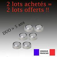 Lot 6 Piles bouton LR44 AG13 AG G13-A D303 L1154 L1154F EPX76 A76 RW82 357 SR44