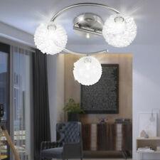 LED Decken Lampe Kugel Geflecht Wohn Ess Zimmer Beleuchtung ALU Rondell Leuchte