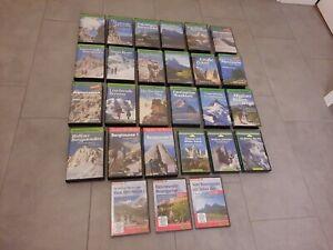 Sammlung 27X Bergsteiger Videothek VHS Video DVD Bruckmann Wandern Berg Alpen