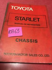 Toyota Starlet KP60 Chassis Manual Review Tecnical Workshop Repair Automobile