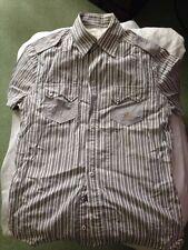Diesel blue-white fine stripe short sleeve shirt Size Medium