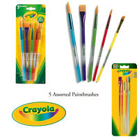 Crayola Project Kids 5 Pack Assorted Paintbrushes Arts Crafts Painting Tools Set