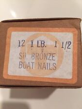 """1 Lb. #12 x 1-1/2"""" Silicon Bronze Nails~Annular Ring~Boat Building~Restoration"""