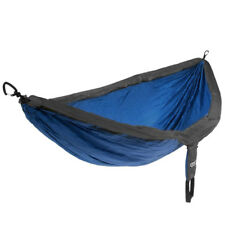 FREE SH ENO Double Parachute Camping Hammock Beach DoubleNest Gray BLUE CHARCOAL