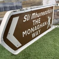 Monaghan Way Large Original Irish Road Street Sign - Man Cave Pub Bar - Ireland