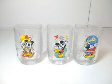 SET OF 3 WALT DISNEY WORLD McDONALDS MICKEY MOUSE  2000 CELEBRATION GLASSES