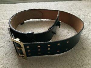Vintage Jay-Pee Black Leather Police Officer Belt Men's Size 36