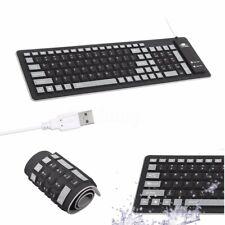Flexible Silicone USB Roll Up Waterproof Silent 103 Keys Keyboard