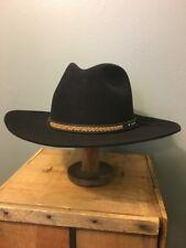 Vtg Beaver Brand Hats 5X Cowboy Hat Western Wear Black Fur Felt Mens M XXXXX 29ca1501ab4