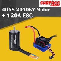 SURPASSHOBBY 4068 2050KV Brushless Motor with 120A+ECS for 1:8 RC Climbing Car