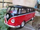 VW Bus Combi Volkswagen 1962 nouveau rouge et noir ,13cm, neuf, metal
