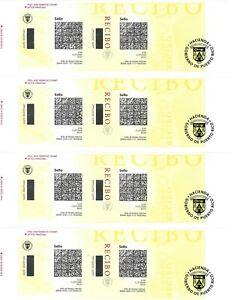 Puerto Rico revenue stamps complete uncut sheet of 4.mint  25 cents stamps