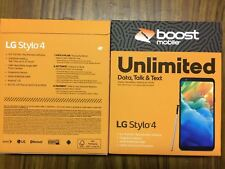 Brand New LG Stylo 4 32GB Prepaid Smartphone, Black (Boost Mobile)
