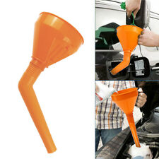 1pcs Orange Car Water Oil Funnel Petrol Diesel Flex Spout & Filter Accessory