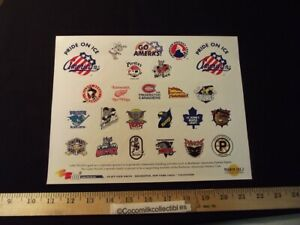 Vintage 1999 Rochester Americans Amerks Sticker Logos All AHL Teams Pride on Ice