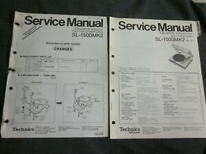 Original Service Manual for the Technics SL-1500MK2 Turntable W/ SUPPLEMENT