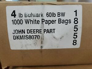 LOT of 1000 John Deere White Kraft Paper Bags Sacks Lunch Parts Gift Party Favor