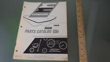 Vtg Original 1968 Evinrude Boat Parts Catalog Rogue * sport watercraft fishing