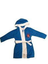 MARVEL SPIDERMAN Jungen Bademantel Kimono Morgenmantel Kapuze blau NEU