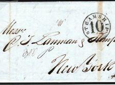 PERU Cover EL LIMA Fine *STEAMSHIP / 10* POSTAGE RATE USA New York 1859 FC167