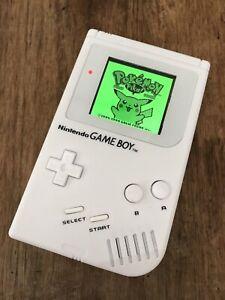 Nintendo Gameboy Original Handheld Console Game Boy DMG White BACKLIT IPS Screen