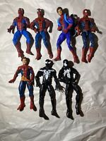 Marvel Legends Spiderman Lot Of 7: PIZZA Homecoming Black Costume Superior More+