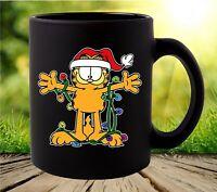 Garfield The Cat Christmas Lights Coffee Mug
