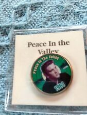 """NOS ELVIS MYSTIC STAMP COLORIZED QUARTER GREATEST HITS """"PEACE IN THE VALLEY"""""""