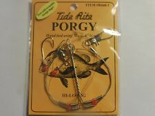 12 PORGY RIGS SCUP TIDE RITE R460-1 BEADED HI-LO RIG SALTWATER  FISHING MUSTAD