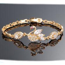 18k Karat Gold Armreif Damen Armreifen Geschenk Pandora Armkette Schwan 45€