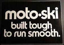 "1974 MOTO-SKI SNOWMOBILE SALES BROCHURE POSTER SIZE 20"" X 29""  NICE  (631)"