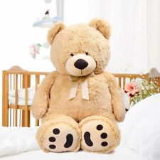 39'' Brown Plush Teddy Bear Stuffed Animal Toy Birthday Valentines Gift 3.3 Feet